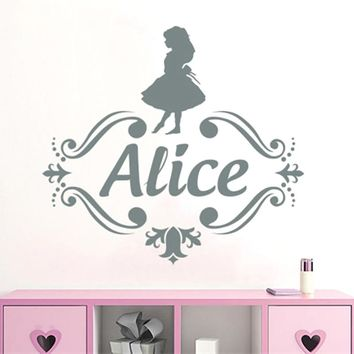 Selfless Ballerina Wall Decal Girl Personalized Name Ballet Dance Vinyl Wall Sticker Nursery Kids Girls Bedroom Art Decoration Home Decor Home & Garden