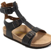 Birkenstock Chania Sandals Artificial Leather Black - Ready Stock