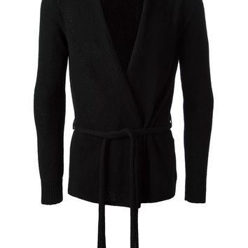 Nuur belted open front cardigan