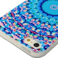 5s Case, iPhone 5&5s Case - MOLLYCOOCLE Fashion Style Colorful Painted Flowers Sea Pattern TPU Soft Cover Case for iPhone 5&5s(Flowers Sea)