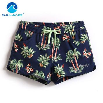 Gailang Brand Women Beach Board Shorts Casual Bottoms Big Size Quick Drying Fitness Jogger Boxer Shorts Trunks Woman Swimwear