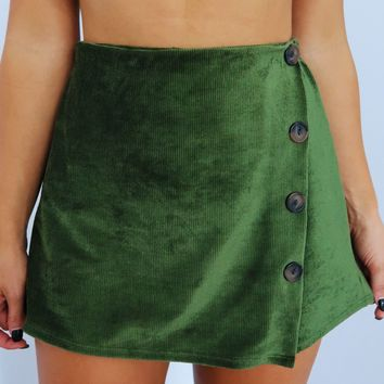 Come Find Me Shorts: Olive