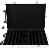 1000 Capacity Chip Case Trolley -  Aluminum w- Wooden Insert