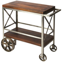 Industrial Chic Merrill Trolley Server
