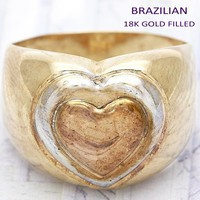 Gold Layered Women Love Elegant Ring, by Folks Jewelry