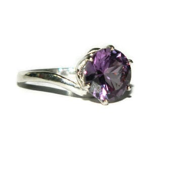 Alexandrite Ring, Color Change Stone, Sterling Silver