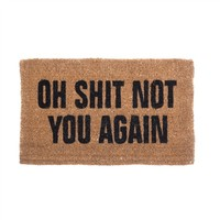 Natural Coir Oh Shit Not You Again Doormat (491563930), Eco-Friendly Indoor Outdoor Rugs & Organic Mats | bambeco