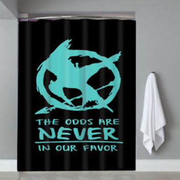 Catching Fire Logo The Hunger Games Top Movie Shower Curtain Limited Edition