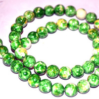 Green Gemstone Colorful Rainbow Beads 8mm