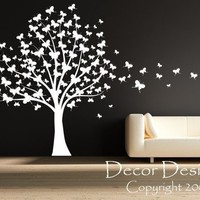 Sale Huge Butterfly Tree With Trailing Butterflies Vinyl Wall Decal