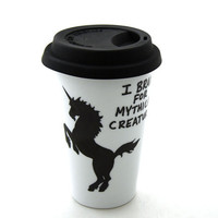 Unicorn Travel Mug Eco Friendly Gift For fantasy lover