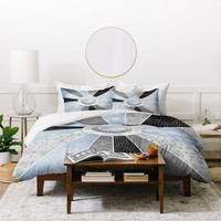 Elisabeth Fredriksson Happy Moonlight Duvet Cover