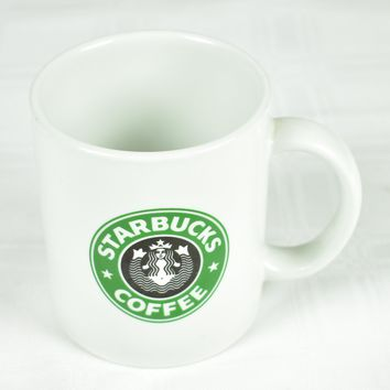 Starbucks Coffee Mug Rare Split Tail Classic Logo 1987 Hand Painted USA