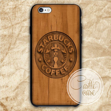 Starbucks Wood Design iPhone 4/4S, 5/5S, 5C Series Hard Plastic Case