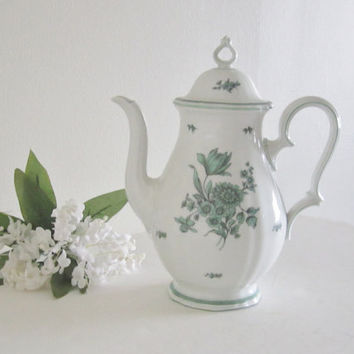 Rosenthal Bahnof Selb Germany Chippendale Coffee Pot - Shabby Chic Spring Decor