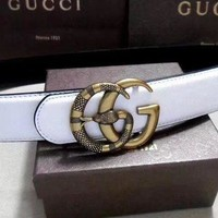 GUCCI 2018 latest women's stylish smooth buckle belt F