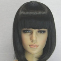 Short Black Cosplay Wig Anime Fashion Sexy Full Straight Synthetic Hair Blonde Bob Wigs With Bangs Female Women Peruca Pelucas