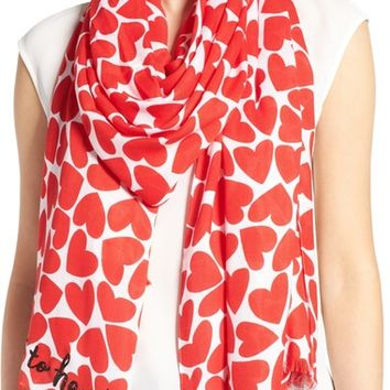 kate spade new york heart to heart scarf | Nordstrom