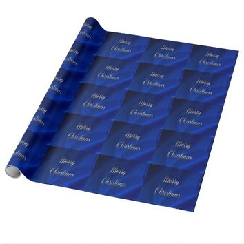 Dark Blue Christmas Wrapping Paper