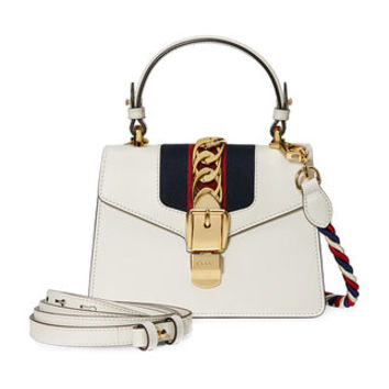 Gucci White Sylvie Small Leather Shoulder Bag - Farfetch