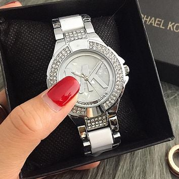 MK Stylish Fashion Designer Watch ON SALE With Thanksgiving Silver I-Fushida-8899