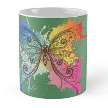 Colorful patterned butterfly by Olga Chetverikova