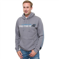 Carolina Panthers Junk Food Horizontal Text Pull Over Hoodie – Gray