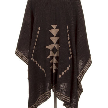 Ruana Woman Poncho cape Cardigan Christmas Stocking Boho Poncho Shawl Wrap-By PiYOYO