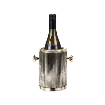 Metal Wine Chiller, Corrugated Ice Bucket, Hollywood Glam Barware