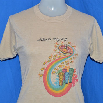 80s Atlantic City NJ Rainbow Roulette t-shirt Extra-Small