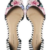 New Look Two Part Multi Print Flat Shoes at asos.com