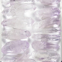 Purple Amethyst Raw Crystals Stone Jewelry Points All Double Terminated