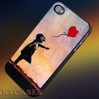 Banksy Balloon Girl Heart iphone 4/4s case, iphone 5/5s,iphone 5c, samsung s3 i9300 case, samsung s4 i9500 case in SmartCasesStore.