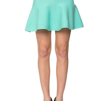 Knitted Mini Flared Skirt - Mint- FINAL SALE