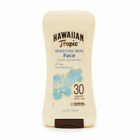 Hawaiian Tropic Faces Sunblock Lotion, Sensitive Skin, Oil Free, SPF 30