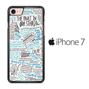 TFIOS Quotes Writen iPhone 7 Case