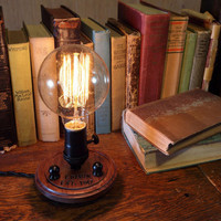 Edison Lamp Nostalgic - Steampunk Lamp - Steampunk Light - Desk Lamp - Table Light - Industrial Light - Desk Light - Unique Light