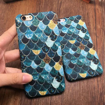 Beautiful Mermaid Scales Ultra Thin Soft Case