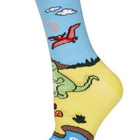 Dinosaur Ankle Socks - Multi