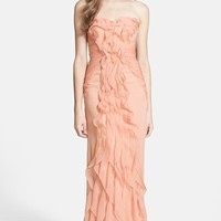 Adrianna Papell Ruffled Chiffon Dress | Nordstrom
