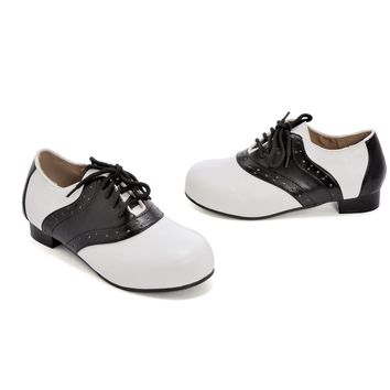 1 Inch Heel Saddle Shoe Children's (Medium,Black/White)