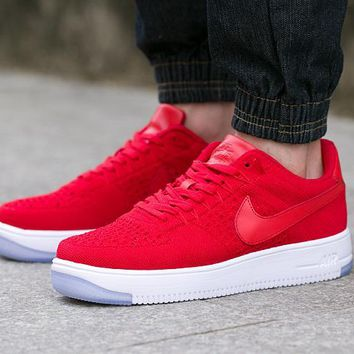 LMFON Nike Air Force 1 817419-600 Red For Women Men Running Sport Casual Shoes Sneakers