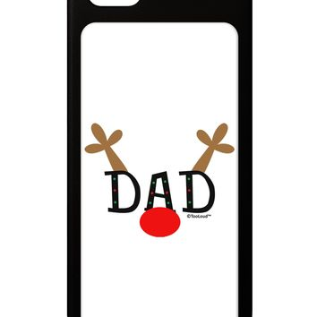 Matching Family Christmas Design - Reindeer - Dad iPhone 5 / 5S Grip Case  by TooLoud