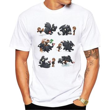 Popular fashion man's Tops 2018 summer latest printed How Not to Train Your Dragon design very interesting,man T-shirts Hot Tops