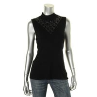 Cable & Gauge Womens Knit Sleeveless Pullover Top