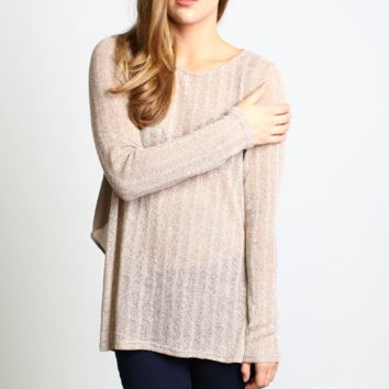 Kori America Ribbed Knit Sweater