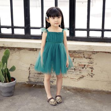 Girls Dress 2017 Brand Princess Dresses kids party Design for Girls Clothes wedding Party Dress Toddler Baby Costume Clothes