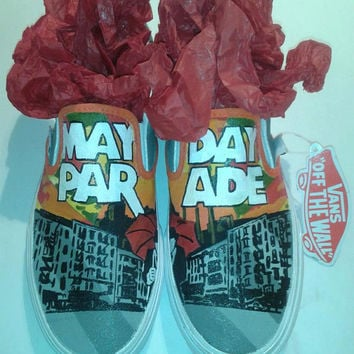 Custom Hand Painted Mayday Parade shoes (NOT VANS BRAND)