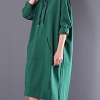 Women's Cotton Dress Casual Loose Fitting Hoodie