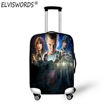 ELVISWORDS Case Stranger Things Custom 3d Print Anime Luggage Set Baby Suitcase for Travel Waterproof Baggage Protective Covers